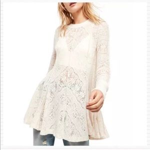 FREE PEOPLE Coffee in the Morning Lace Sweater